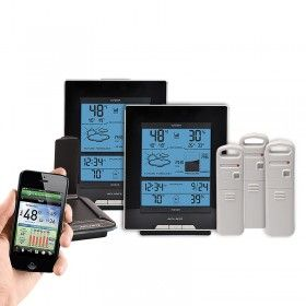 AcuRite Temperature and Humidity Environment System 916ES | This AcuRite Environment System includes an AcuLink Internet Bridge, two (2) weather station displays, and three (3) indoor or outdoor Temperature and Humidity Sensors.