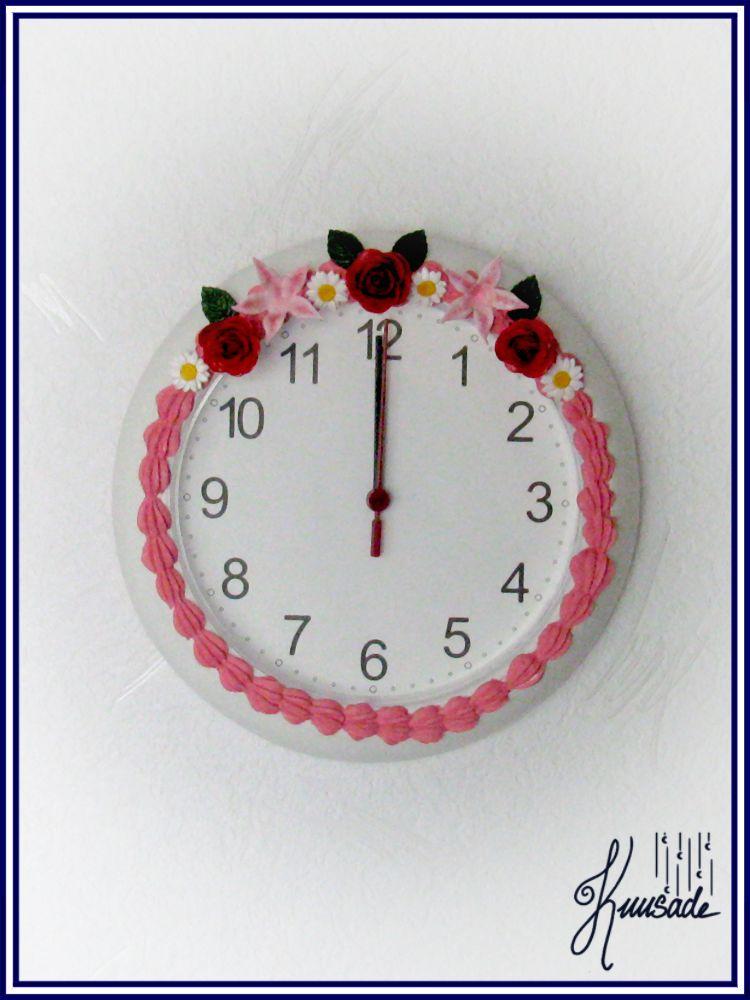 Flowers- Wall clock