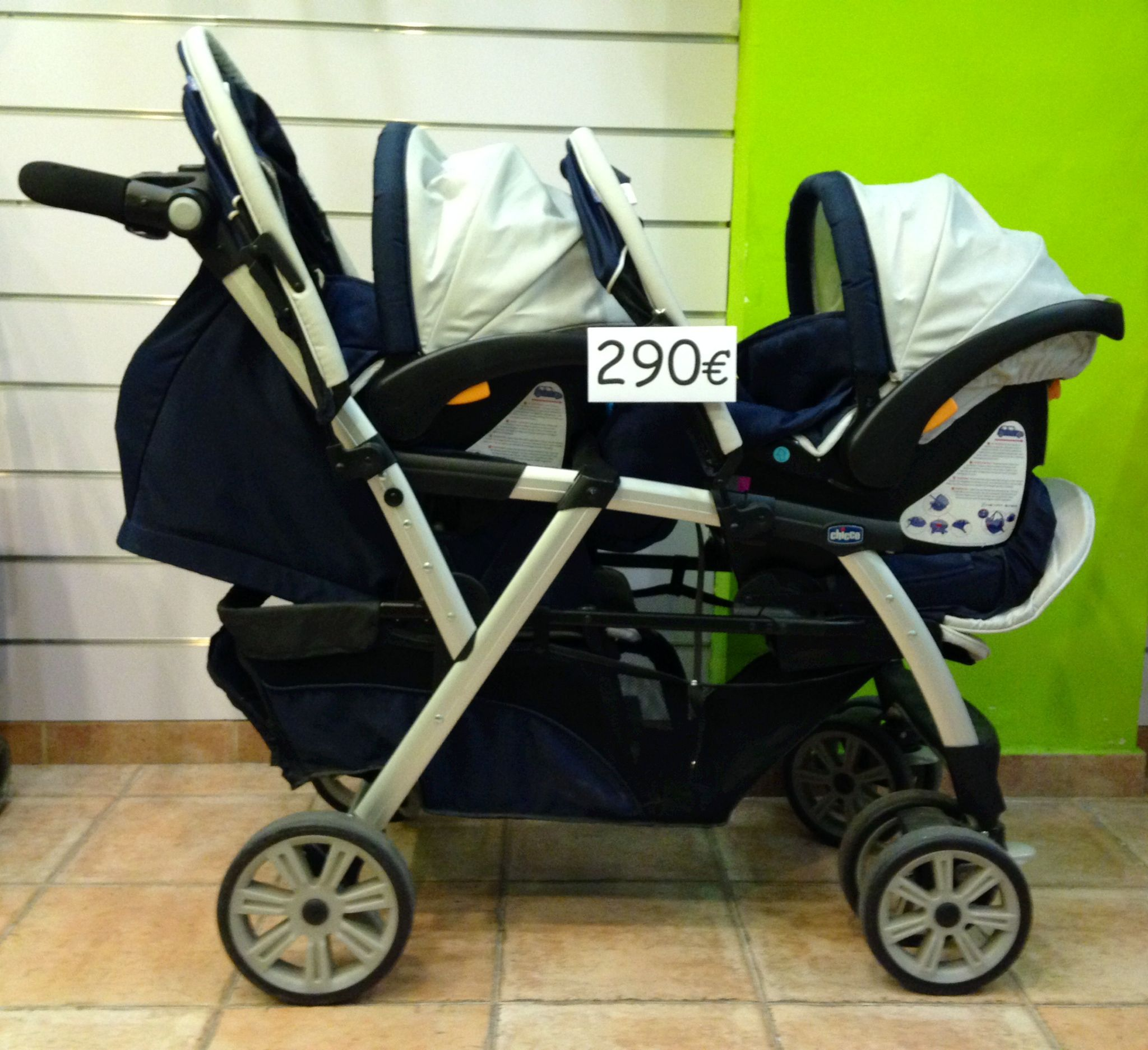 IMPECABLE por 290€! Gemelar Chicco Together + 2 sillas auto Key Fit ...