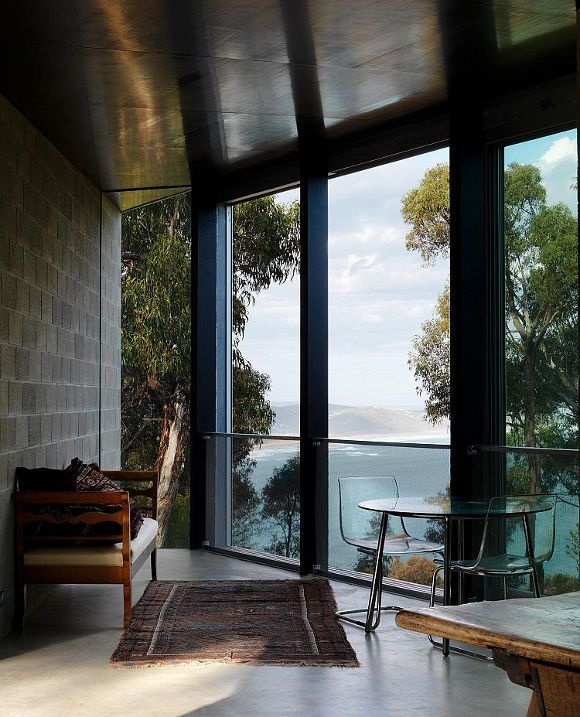 Room with a view at The House at Big Hill by Melbourne based Kerstin Thompson Architects (KTA)