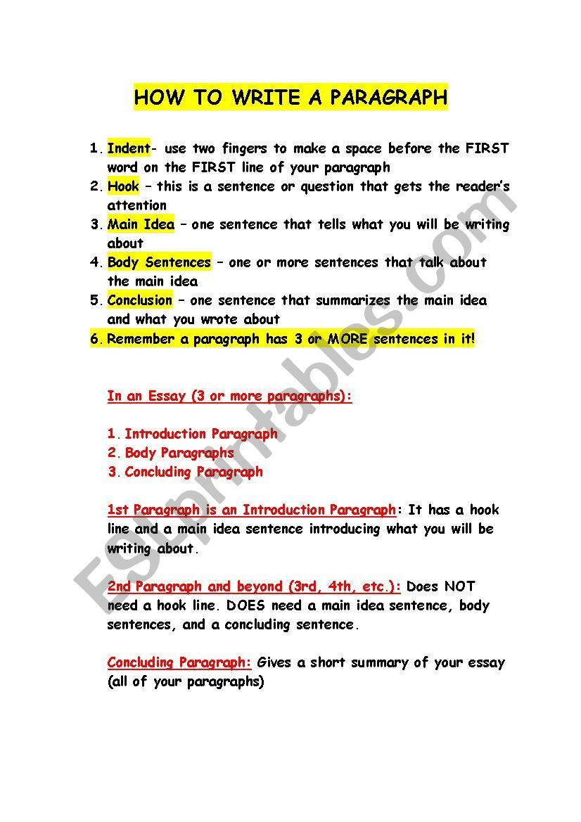 This Is An Outline About How To Write Paragraphs Paragraph Writing Essay Writing Academic Essay Writing [ 1169 x 826 Pixel ]