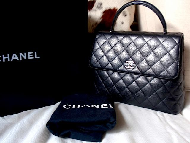 Chanel Caviar Jumbo Kelly Bag Silver Hardware Mint