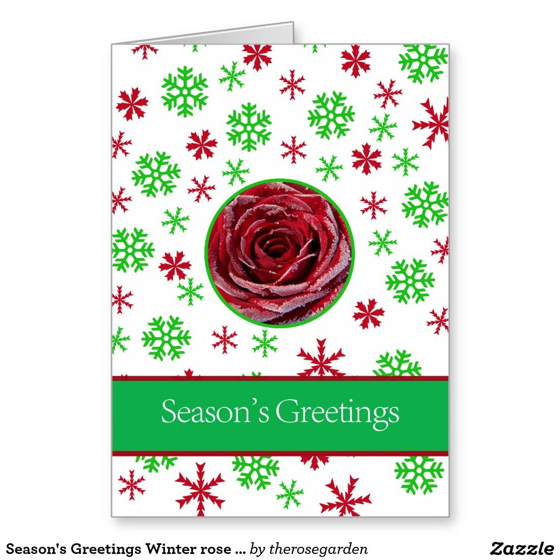 Seasons greetings winter rose christmas card shared board for seasons greetings winter rose christmas card kristyandbryce Image collections