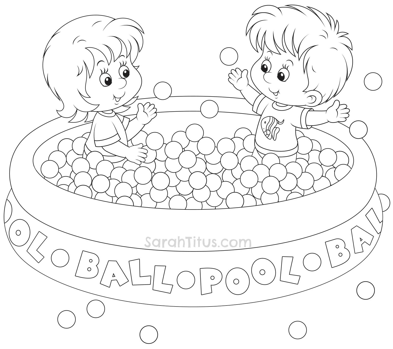 Free Summer Fun Coloring Pages for the Kids - Sarah Titus | ECM ...