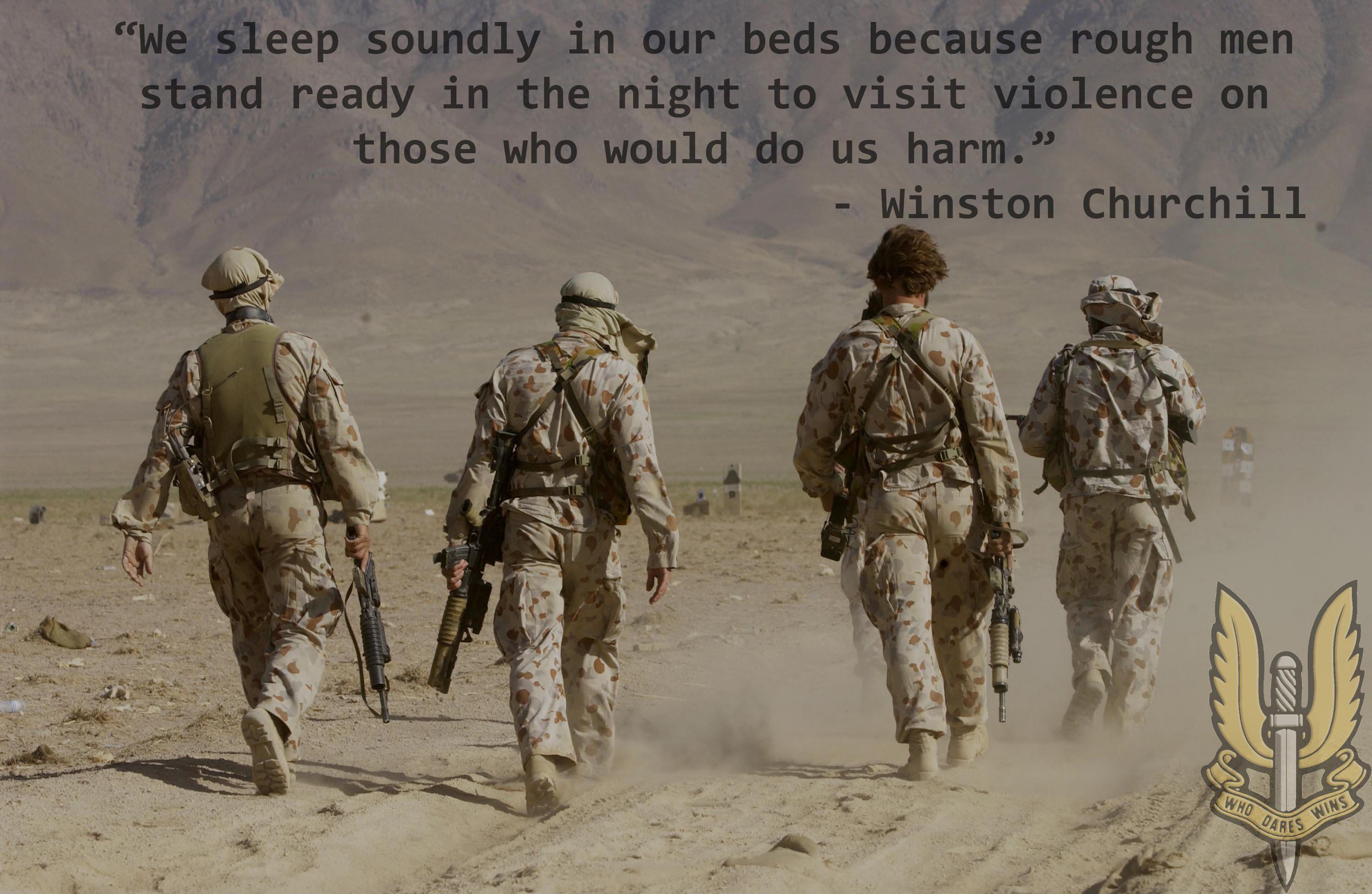We sleep soundly because . . .