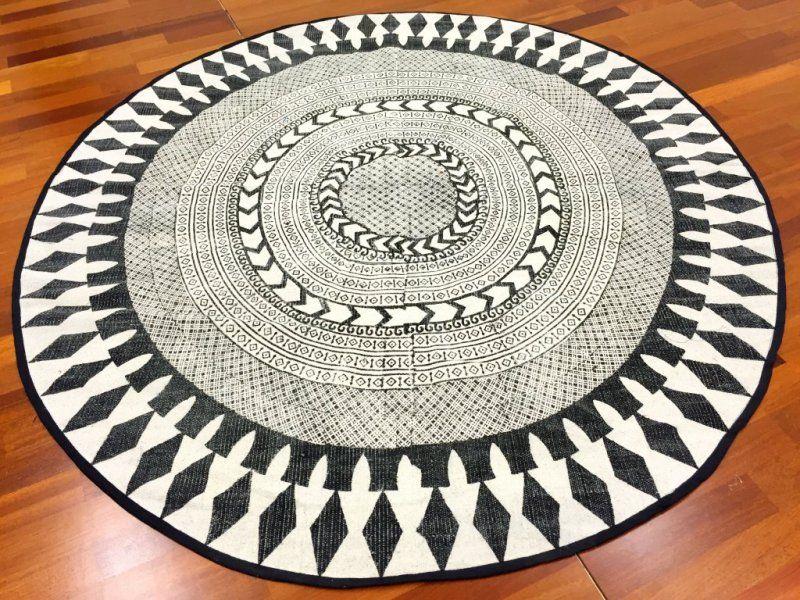 Runde Teppiche runde teppiche marrakech rund schwarz grau weiß interieur
