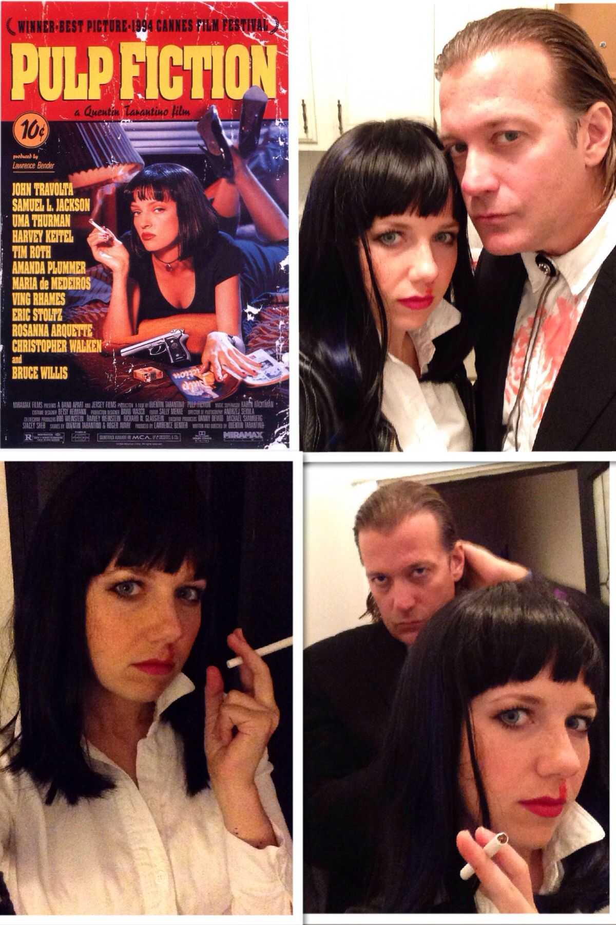 pulp fiction halloween costume vincent vega mia wallace le