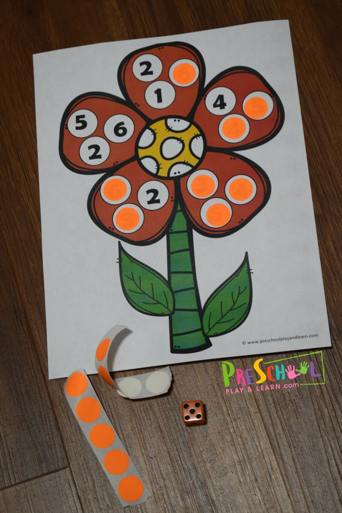 Free Flower Preschool Counting Game With Images