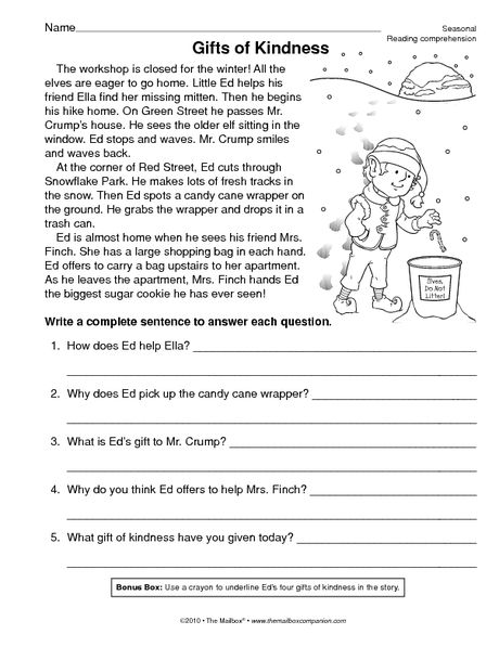 Reading Worksheet Comprehension The Mailbox 3rd Grade Reading Comprehension Worksheets Reading Comprehension Reading Comprehension Worksheets