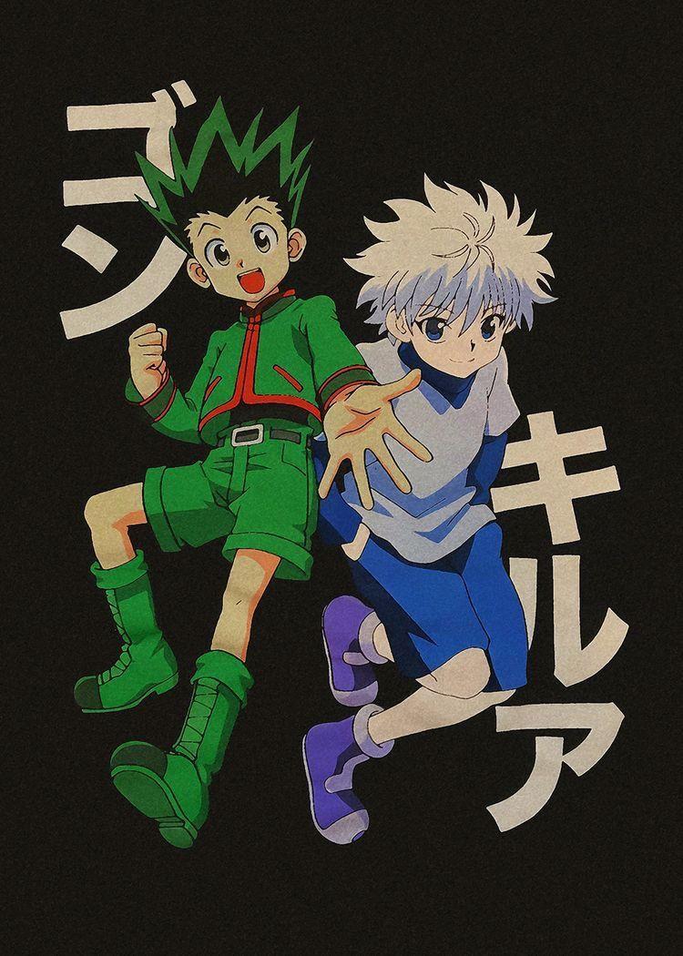 Kirua Et Gon In Hunter Anime Anime Wall Art Manga Covers