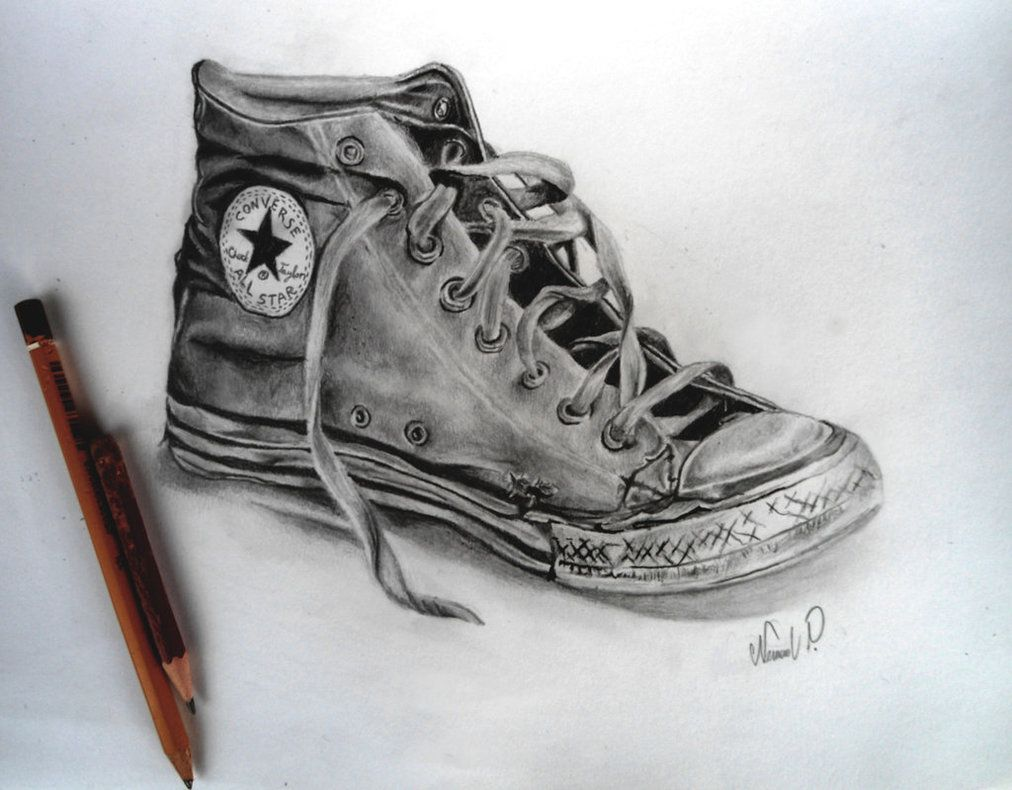 All Star Converse pencil drawing by pencilMaster180894 on