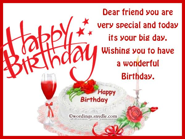 Happy Birthday My Dear Friend Messages