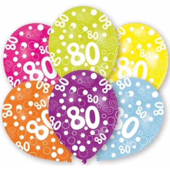 Hedendaags Mooie ballonnen voor een 80ste verjaardag. Gekleurde ballonnen met TO-27