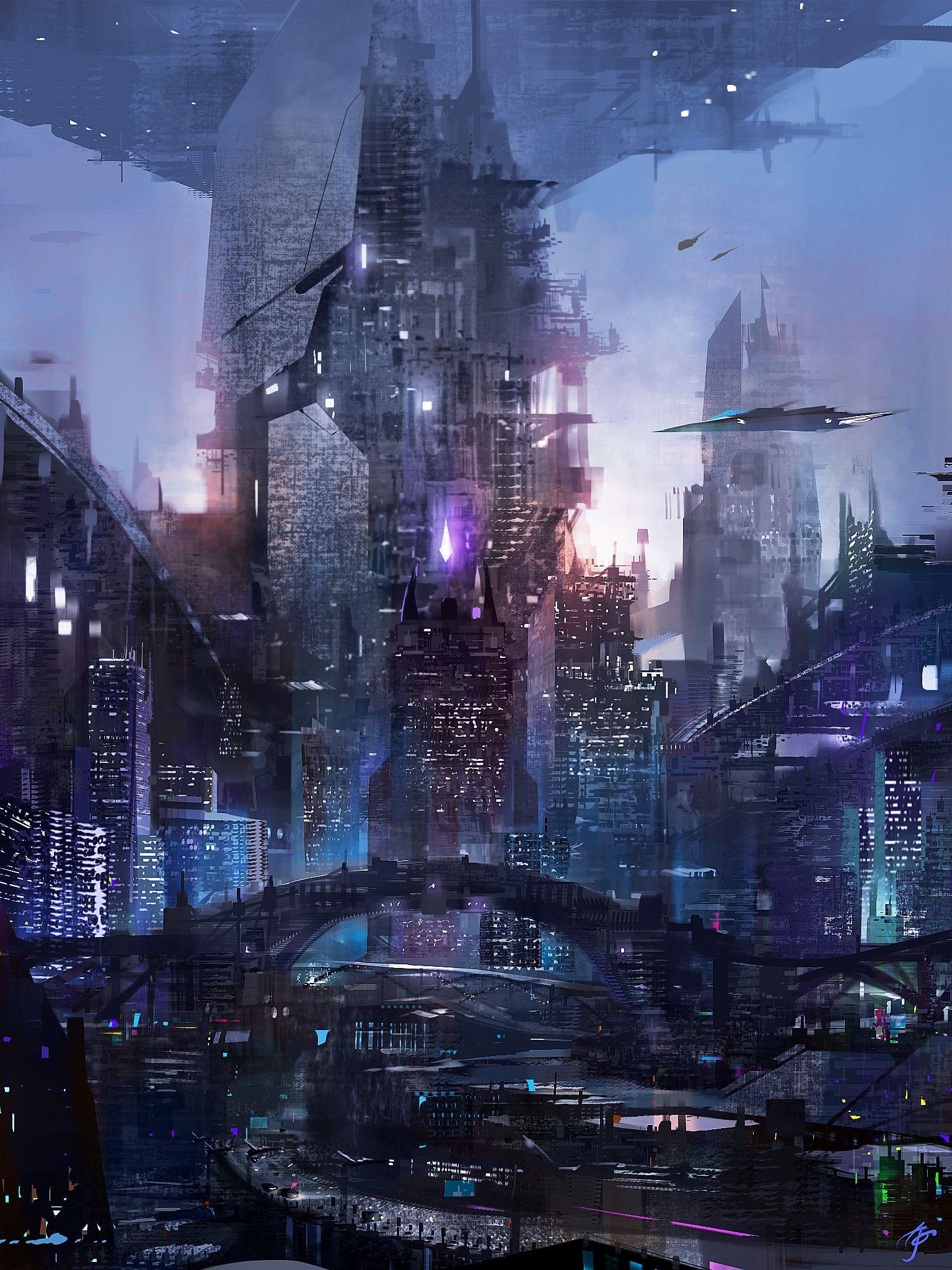Headquarters, Allen Song | Futuristic city, Cyberpunk city