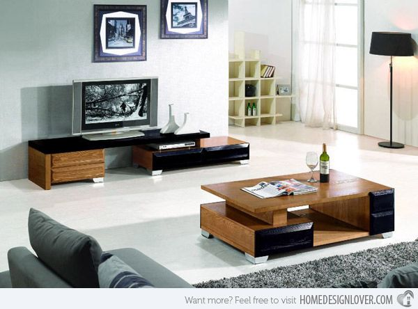 15 Modern Center Tables Made From Wood Home Design Lover Living Room Center Living Room Table Center Table Living Room