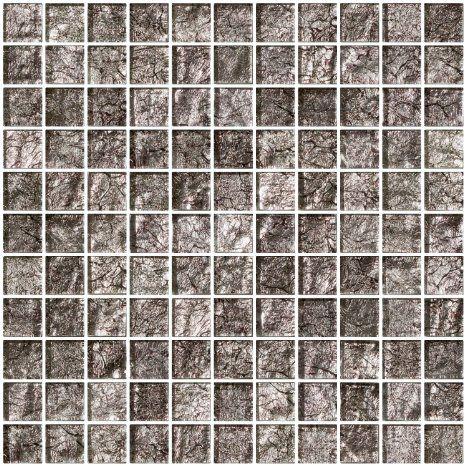 Susan Jablon Mosaics 1 Inch Platinum Metallic Glass Tile