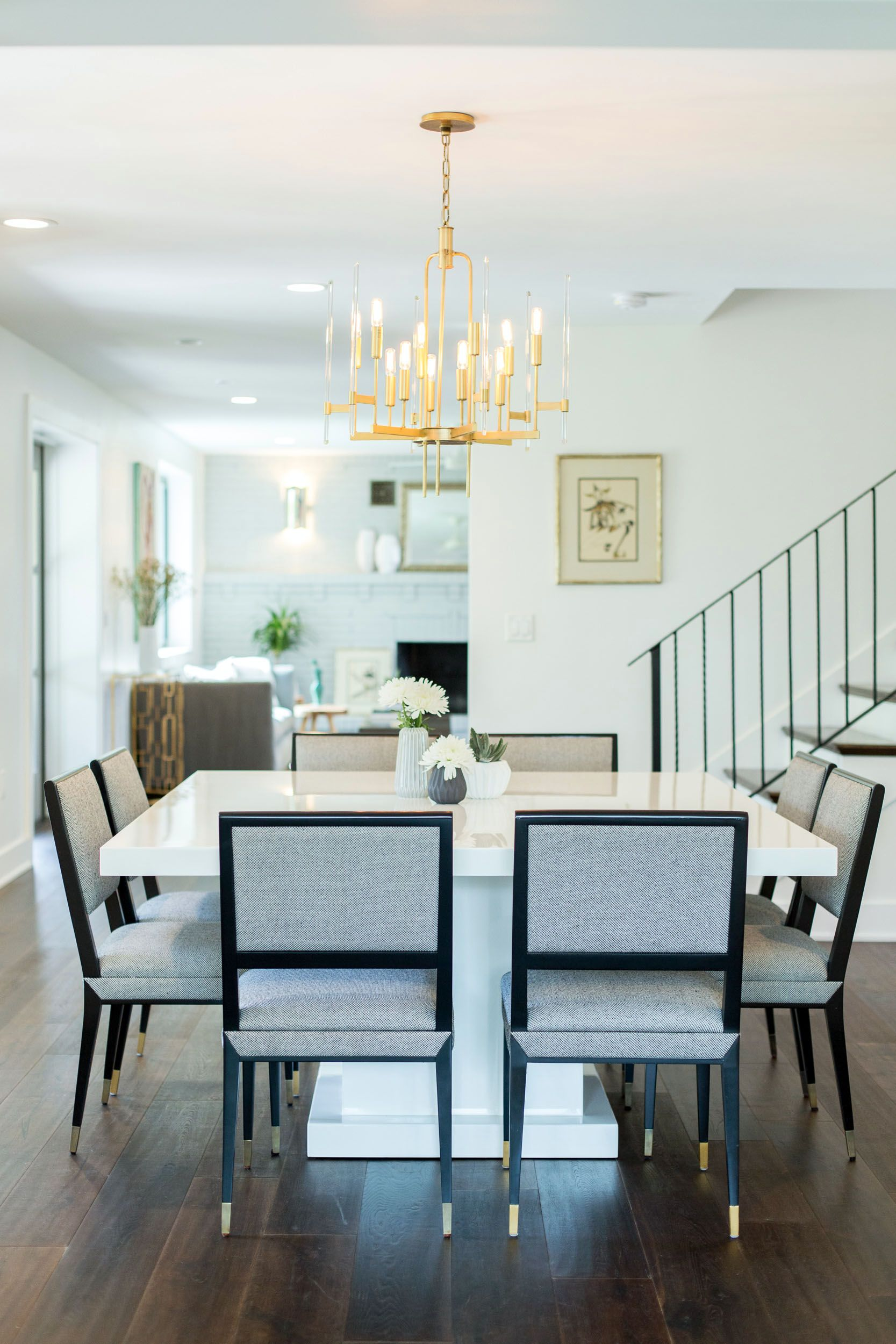 Mj Designs Dining Room With White