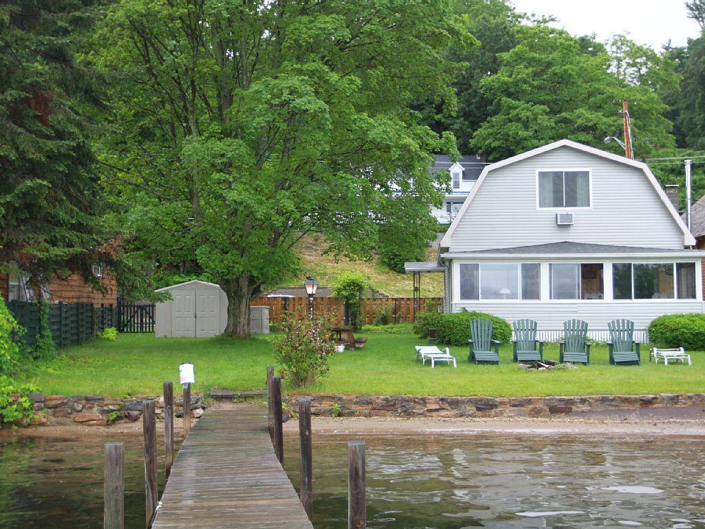 Lake house directly on lake in lake vrbo ny