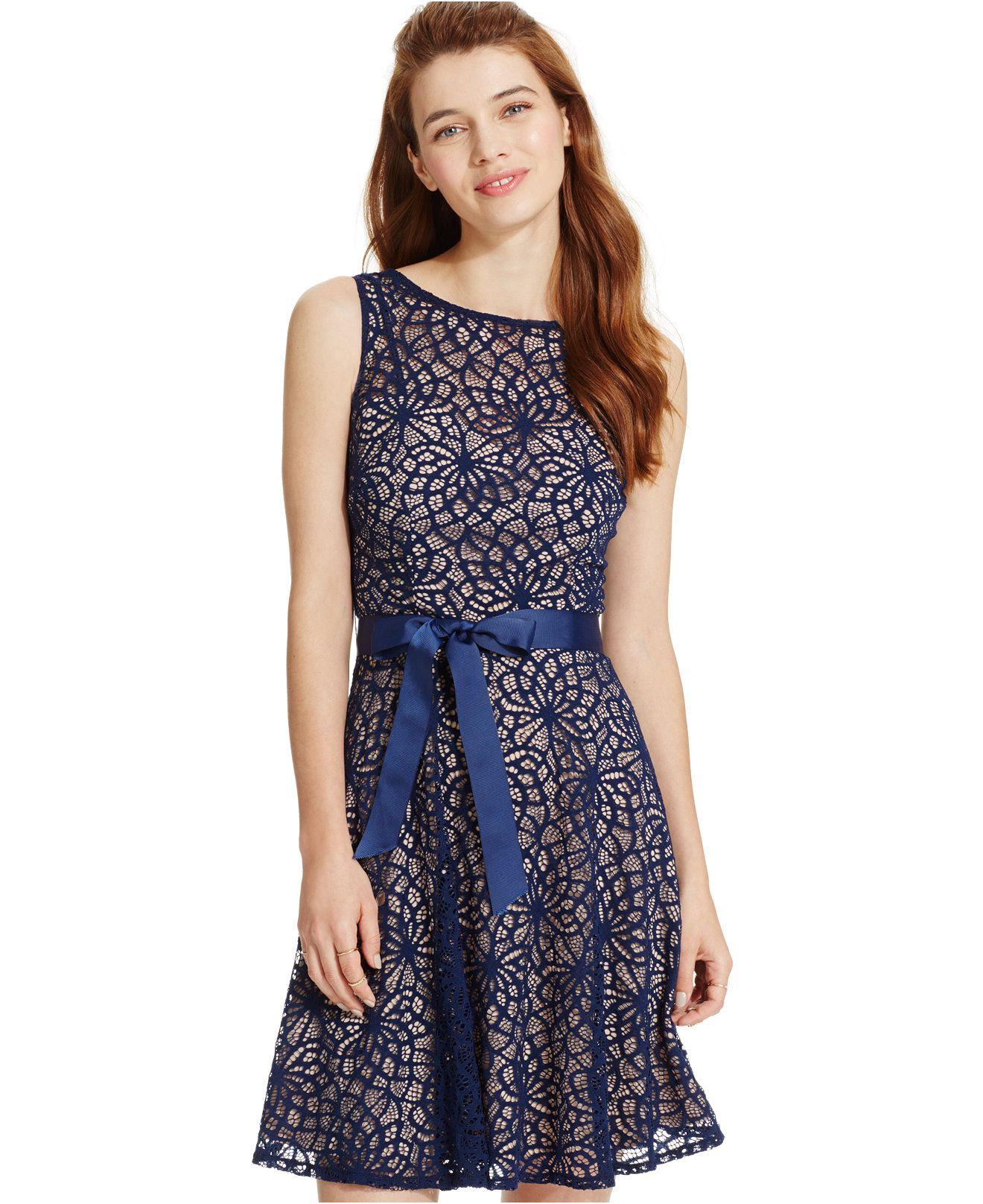 Blue Lace Party Dresses for Juniors