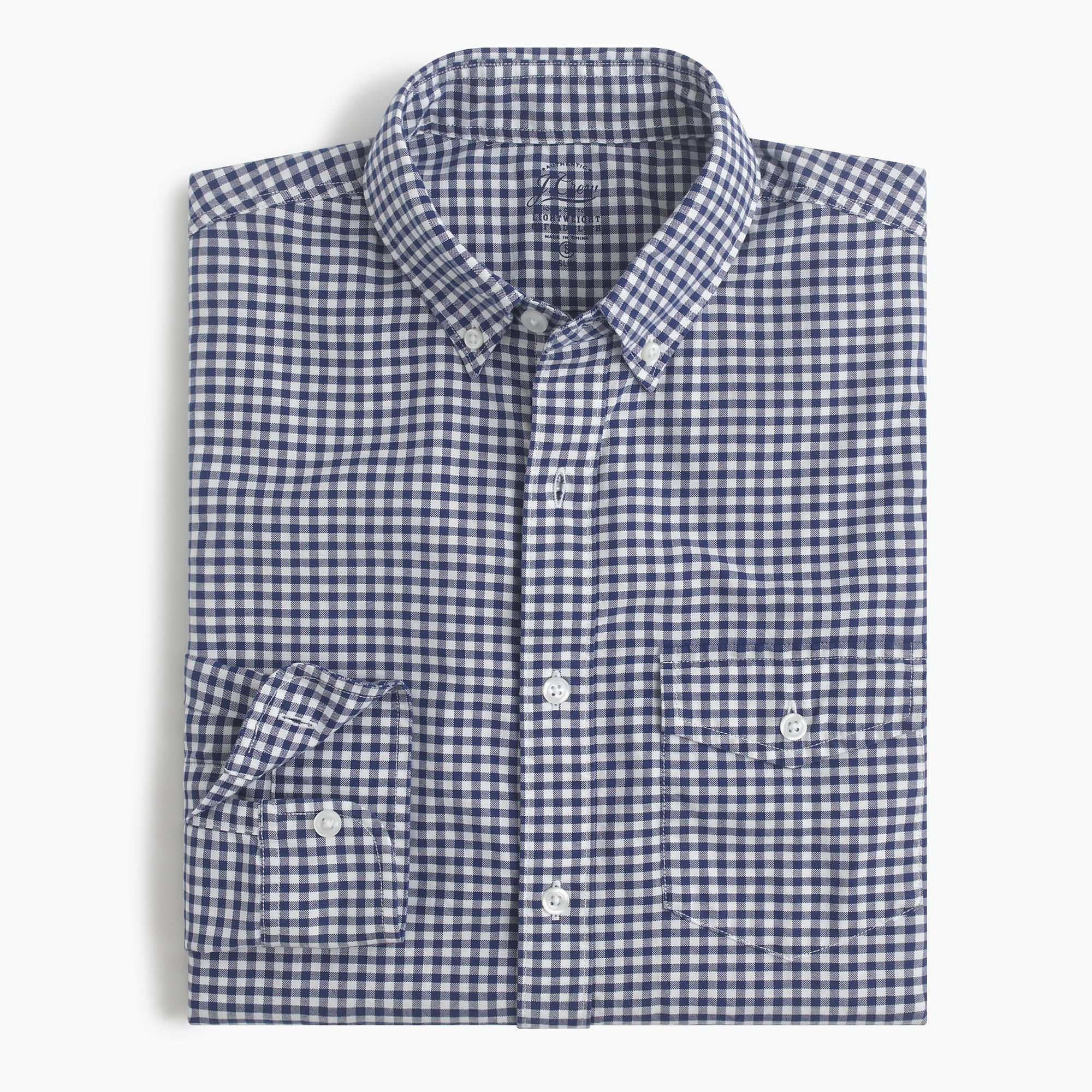 Slim lightweight oxford shirt in summertime gingham : oxford | J.Crew