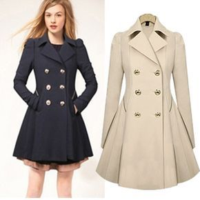 s-xxl plus size trench coat for women double breasted slim