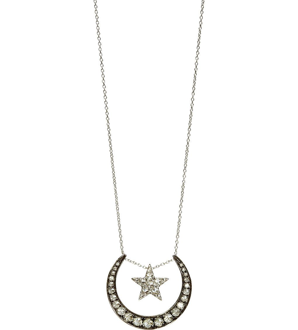 Love Diamonds 18ct white-gold and diamond lunar pendant