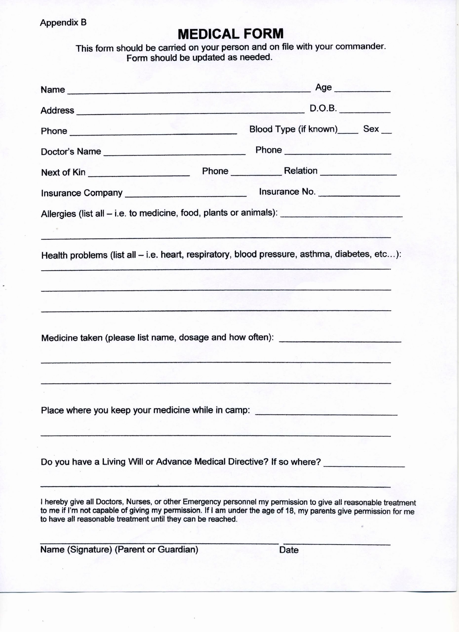 Blank Medical History Form Printable Fresh Search Results For Blank History And Physical Form Medical History Medical Examination Doctors Note Template