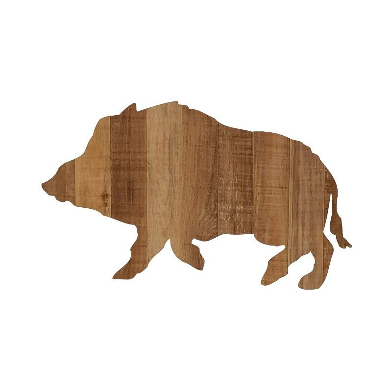 silhouette sanglier en bois grandeur nature boar wooden life size