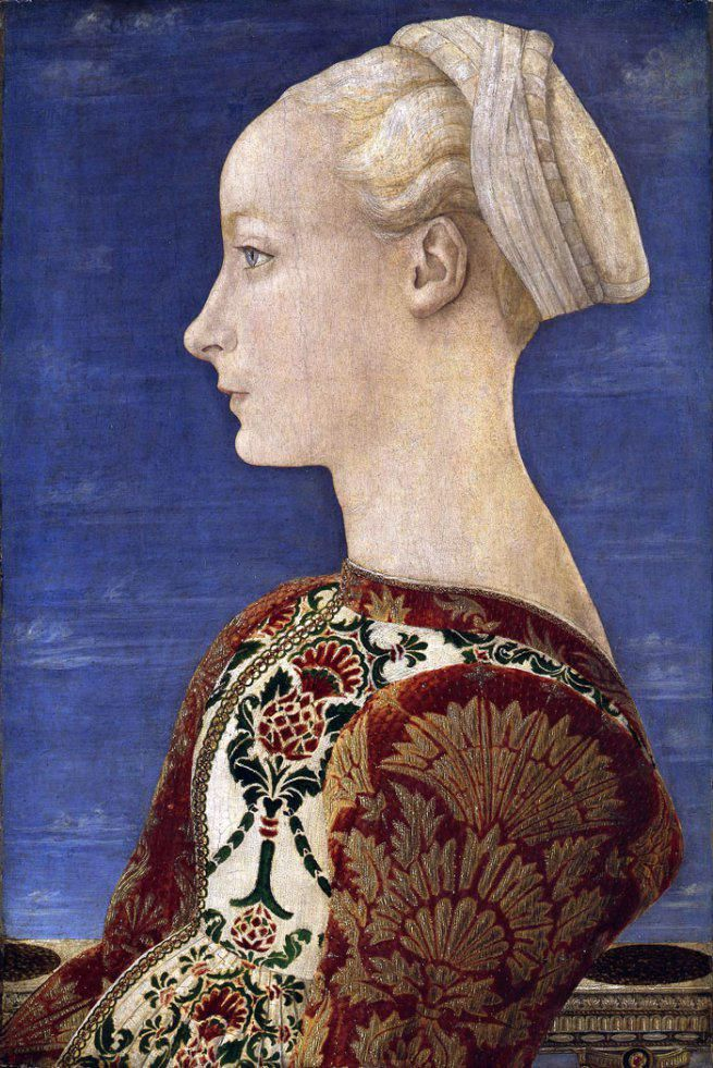 Antonio del Pollaiuolo #art #painting Portrait of a Young Lady  1465