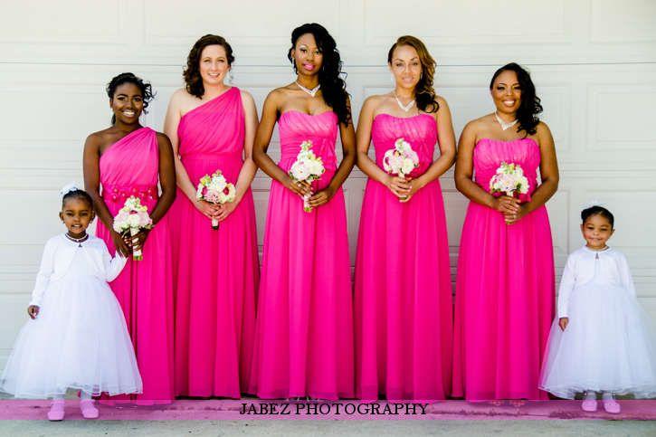 pink bridesmaid dresses everything wedding ideas pink bridesmaid ...