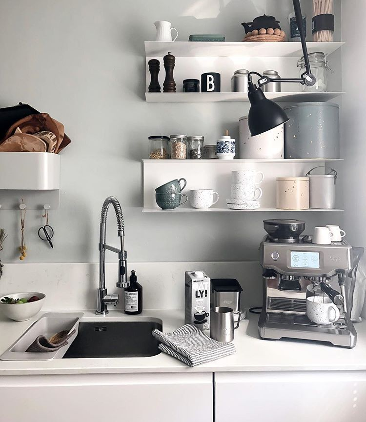 Ikea Botkyrka Wall Shelf Units Sabinevillajosefina Kaffeeecke Kuchenwandregale Kaffee Ecke