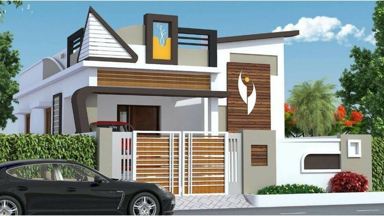 Awesome Single Floor Elevation Designs 2019 3d Small Home Front