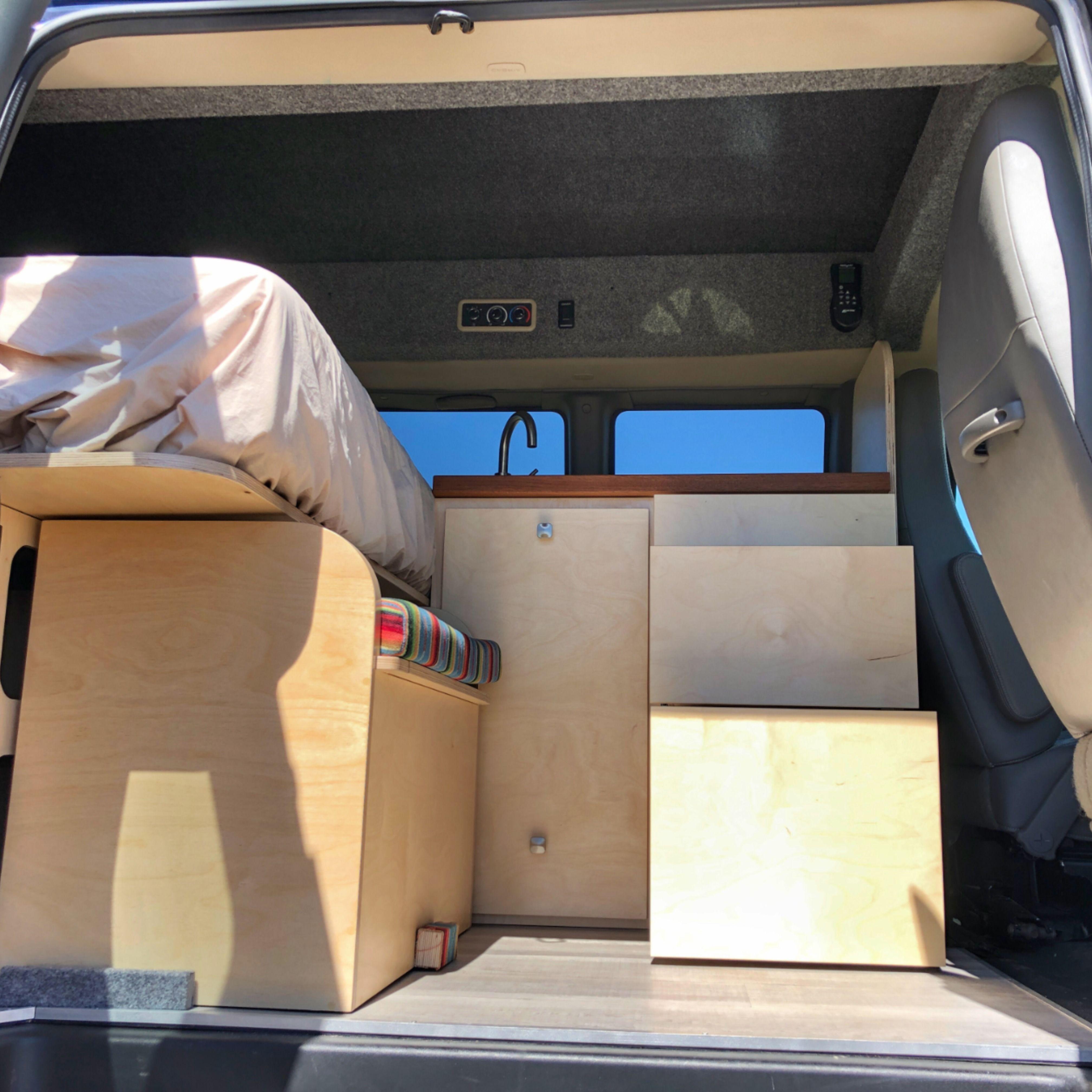 Custom Camper Van Bed Bench Seat In 2020 Van Living Campervan