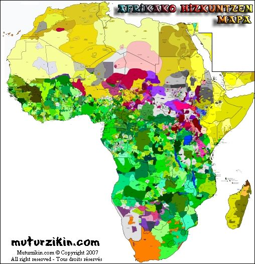 africa map of languages