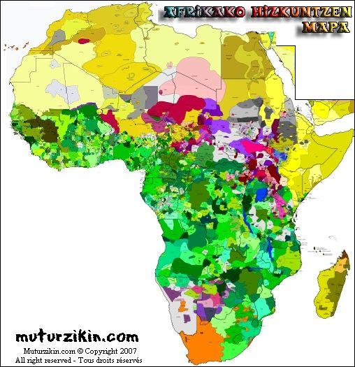 Linguistic map of Africa Linguistics Pinterest