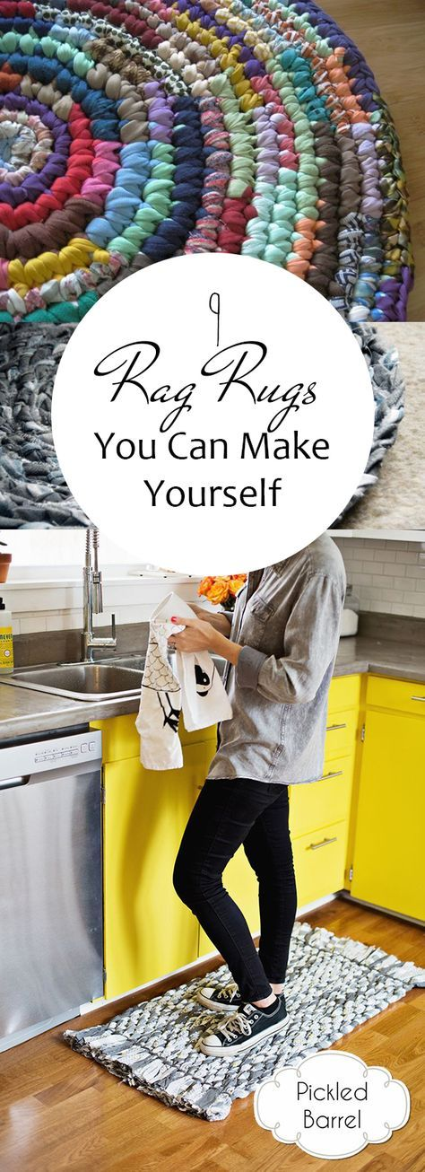 9 Rag Rugs You Can Make Yourself is part of Rag rug diy - DIY rag rug projects you can make yourself! These also make great gifts!