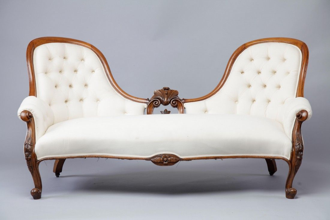 Victorian Deep Buttoned Carved Sofa |