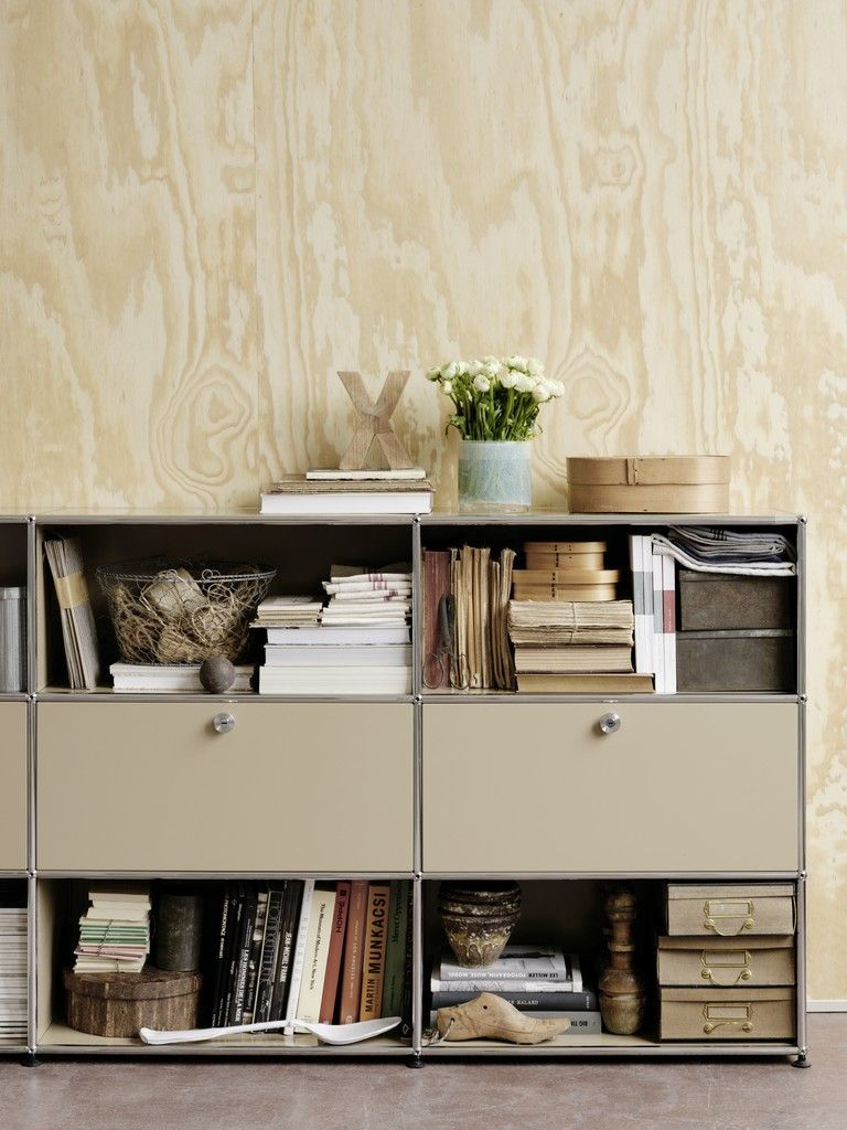 usm haller sideboard in usm beige for books the beige. Black Bedroom Furniture Sets. Home Design Ideas
