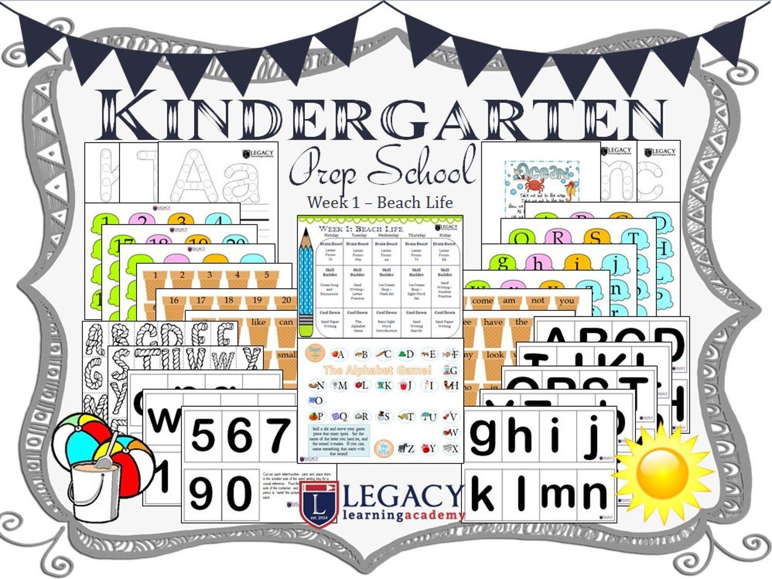 Kindergarten Homeschool Curriculum Set W Lesson Plans