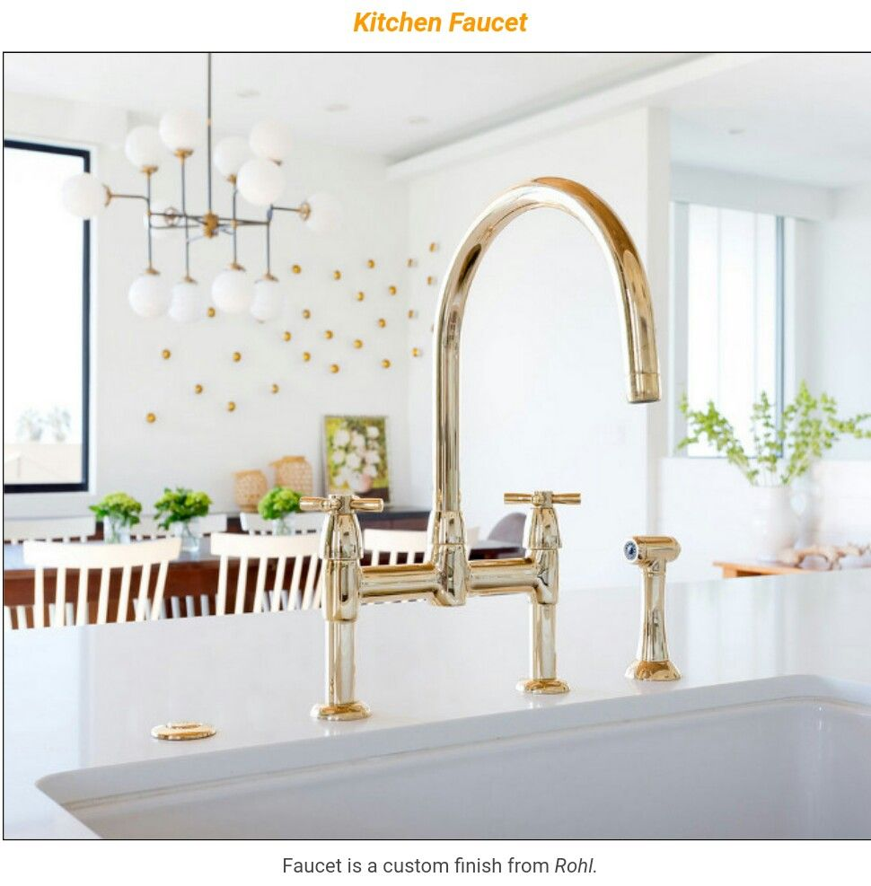 Rohl Brass Kitchen Faucet Interior Design Brass Kitchen
