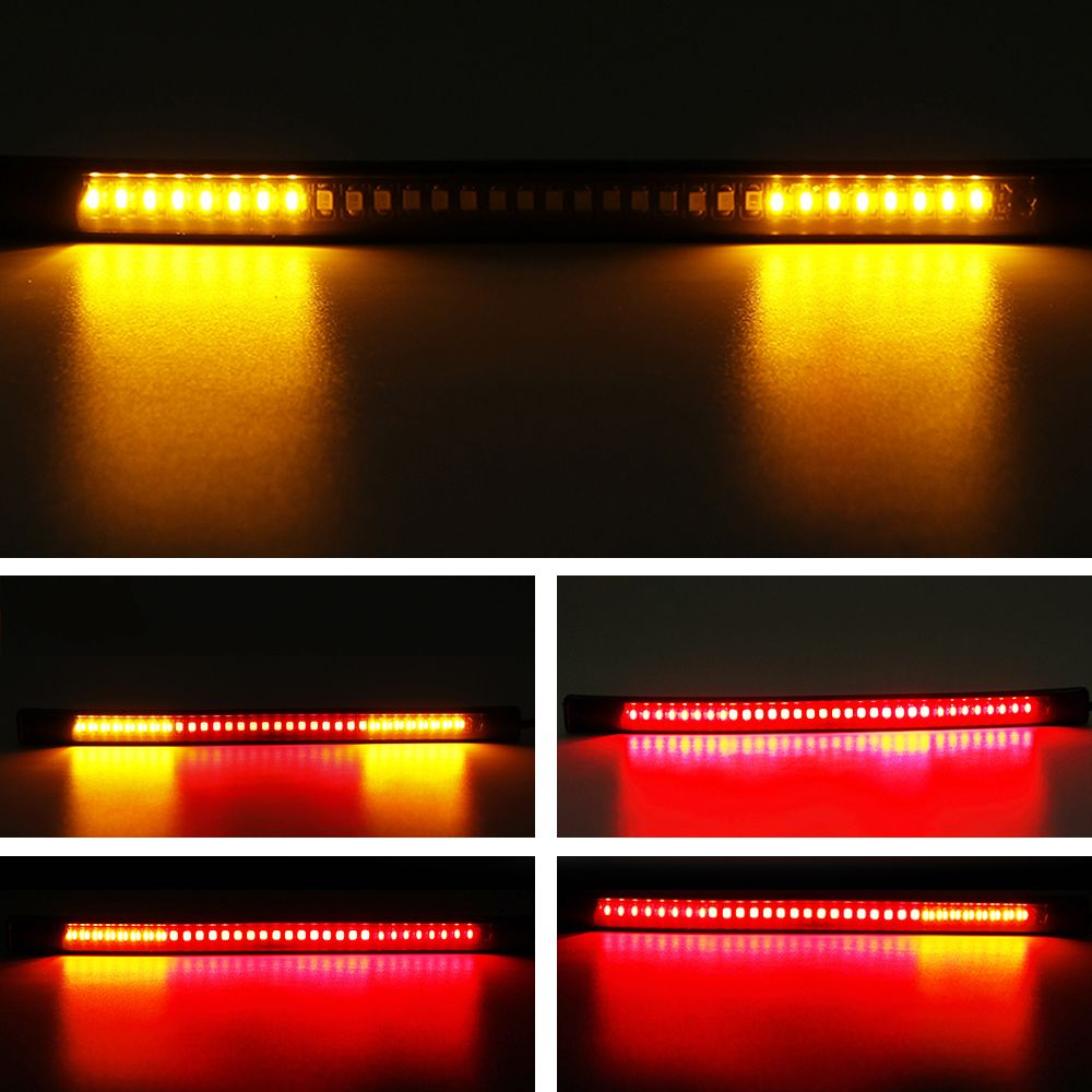 Universal flexible 48led motorcycle light strip tail brake stop motorcycle light 48 smd red and yellow tail brake stop turn signal light decorative flexible led strip light kit mozeypictures Gallery