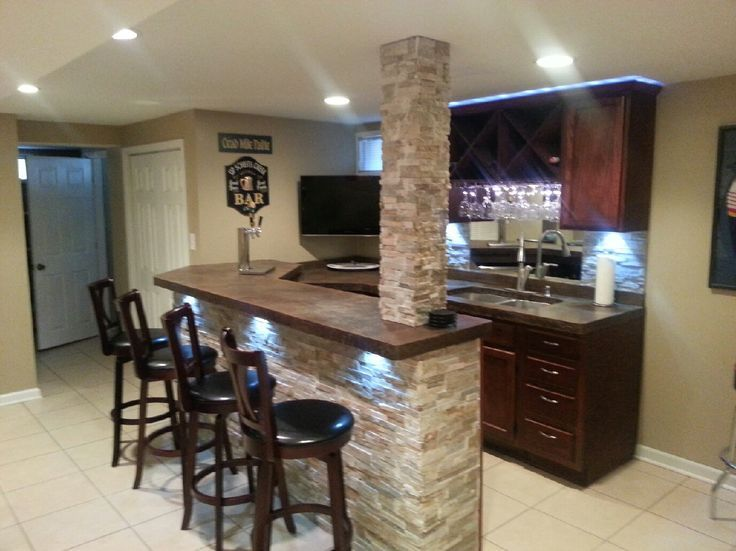 Man Cave Bar Counters : Basement bar counter u basements