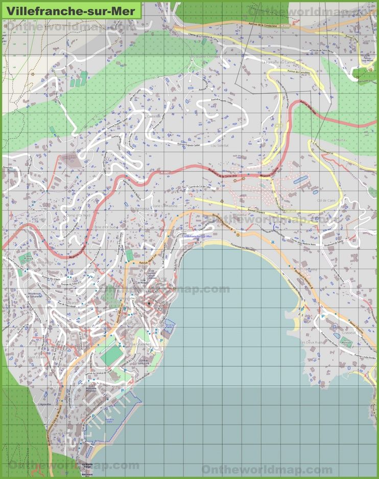 Large detailed map of Villefranche-sur-Mer | Maps | Map