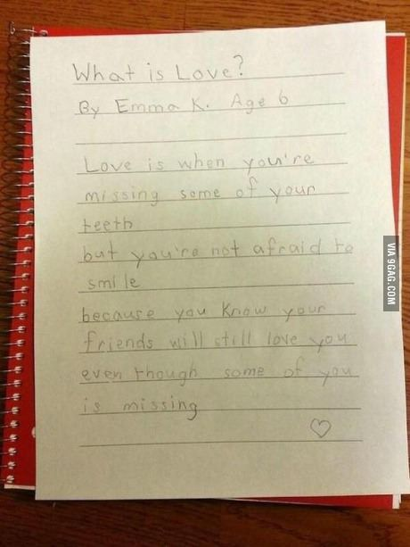 Can you believe, 6 year old wrote this: