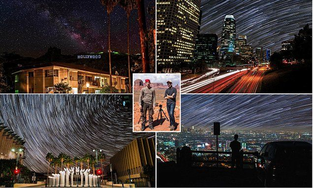 Photographers capture Milky Way in time-lapse footage of Los Angeles