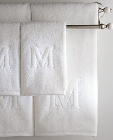 Auberge Initial Towels For The Home Pinterest Initials - Monogrammed hand towels for small bathroom ideas