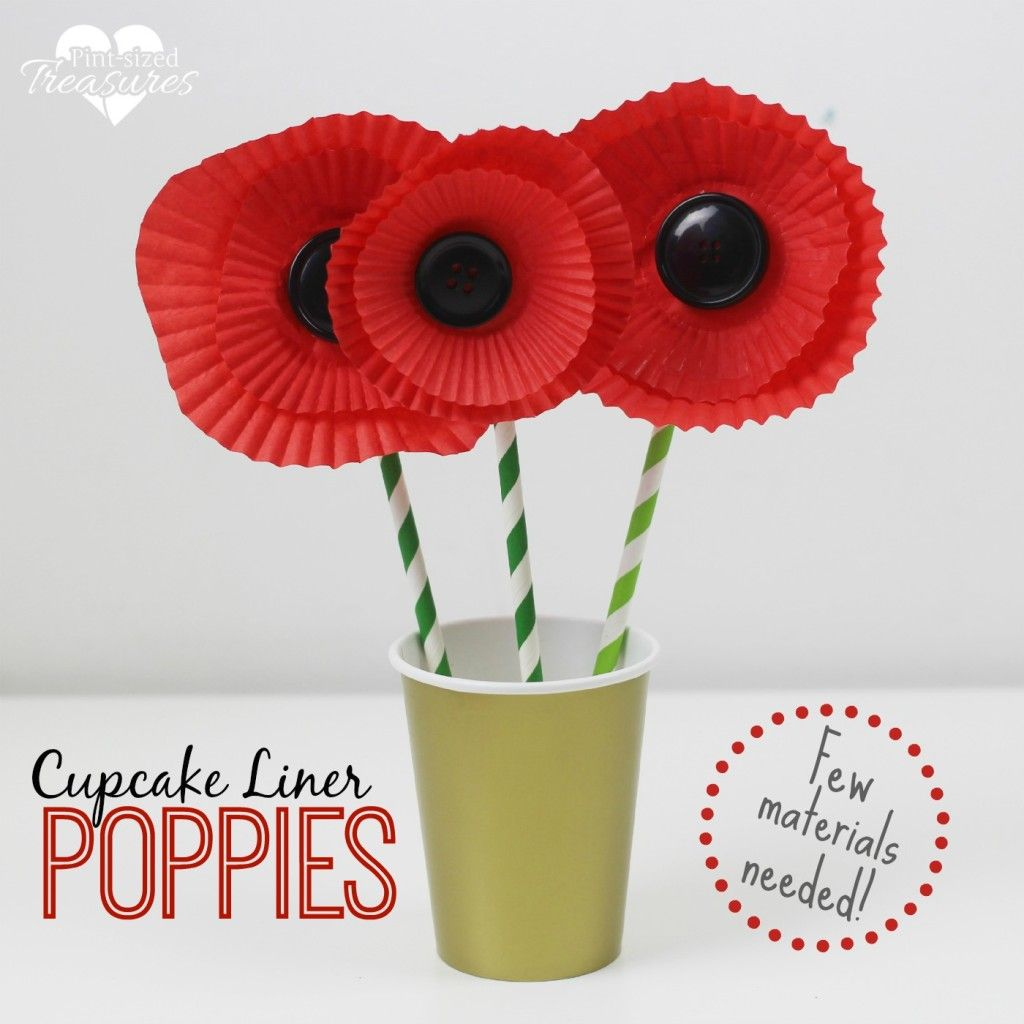Easy Cupcake Liner Poppy Craft Cupcake Liners Easy And Crafts