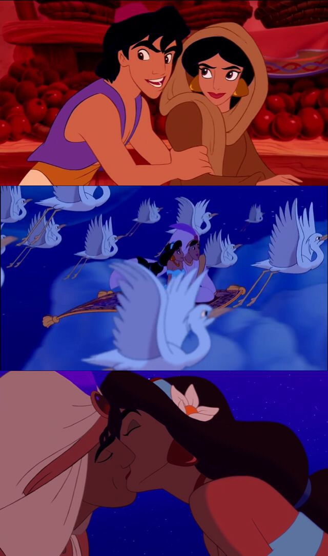Aladdin Princess Jasmine Meet Aladdin First Date And Kiss