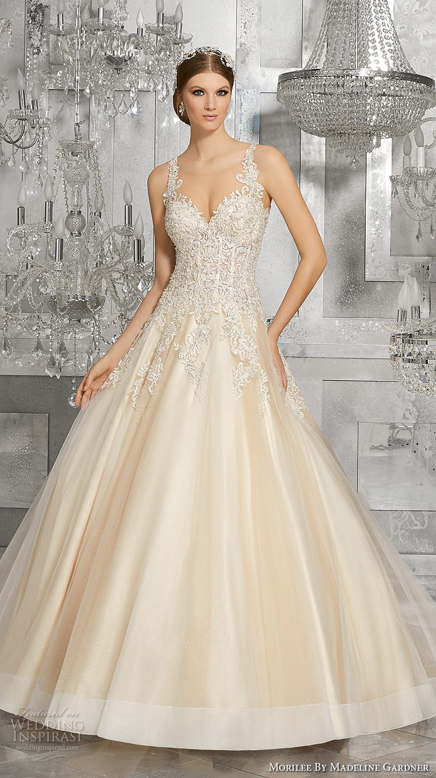 Mori lee madeline gardner wedding dress  Morilee by Madeline Gardner Fall  Wedding Dresses  Romantic