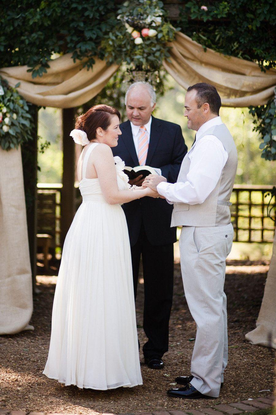 Jcrew wedding dress  Barnsley Gardens Wedding by Elle Golden Photography  Gardens